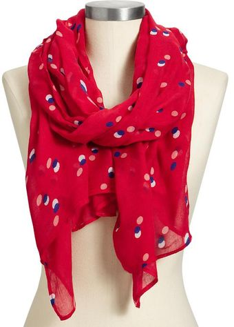 Old Navy Multidot Gauze Scarves - Lyst