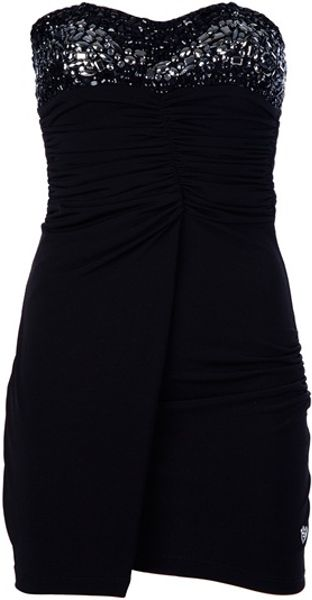 Philipp Plein Strapless Blouse in Black - Lyst