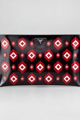 Prada Diamond Applique Flat Clutch - Lyst