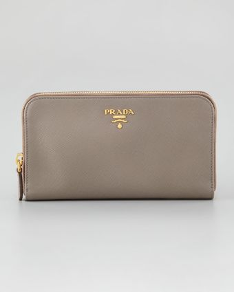 Prada Continental Organizer Zip Top Wallet - Lyst