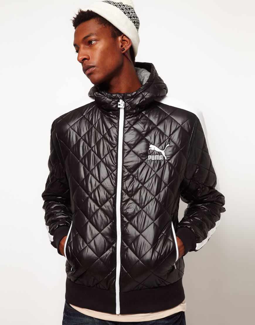 Lyst - Puma Quilted Jacket with Hood in Black for Men : puma quilted jacket - Adamdwight.com