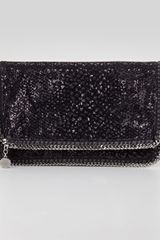 Stella McCartney Falabella Sequin Foldover Clutch - Lyst