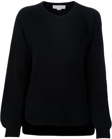 Stella Mccartney Knitted Jumper in Black - Lyst