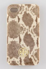 Tory Burch Hardshell Pythonprint Iphone 4 Case - Lyst