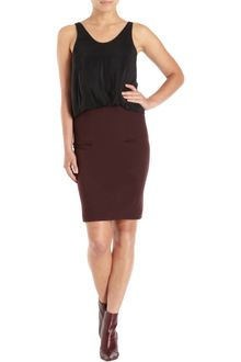 3.1 Phillip Lim Corduroy Panel Pencil Skirt - Lyst