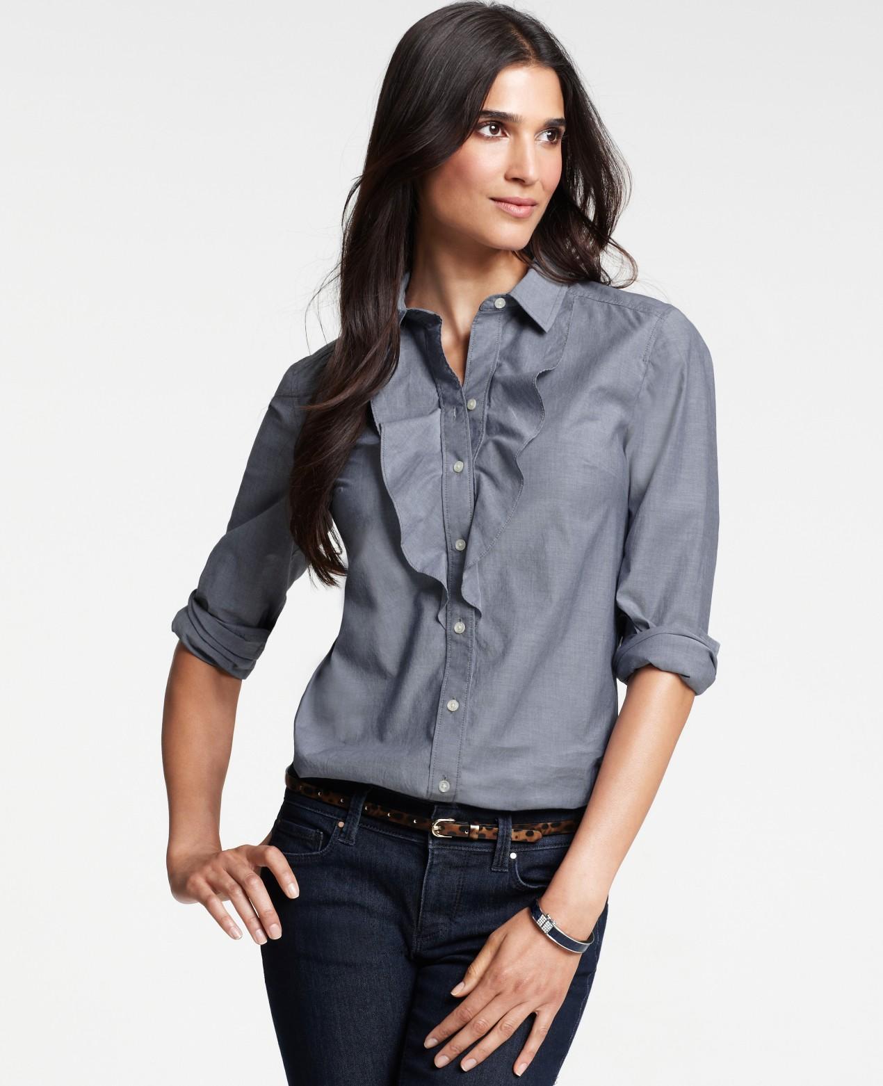 8749042e0658f5 Ann Taylor Silk Camp Shirts
