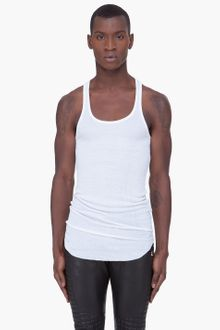 Balmain Long White Debardeur Tank Top - Lyst