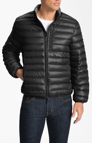Bernardo Quilted Packable Down Jacket In Black For Men Lyst