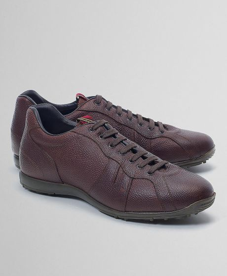 Brooks Brothers Pantofola Doro Football Leather Sport Shoe in Brown