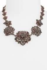 Cara Accessories Floral Statement Collar Necklace - Lyst