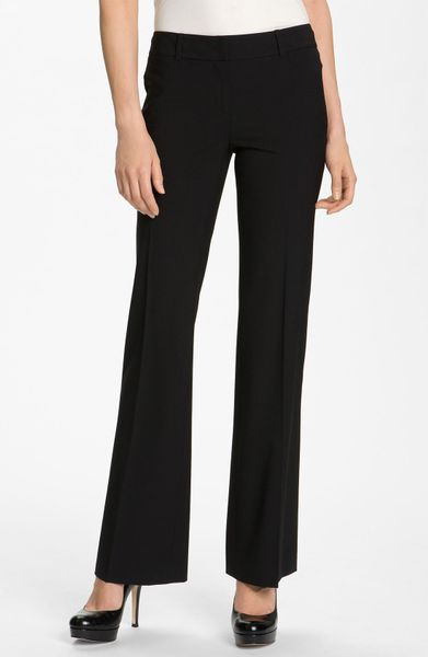 Classiques Entier Flare Leg Stretch Wool Pants In Black Lyst