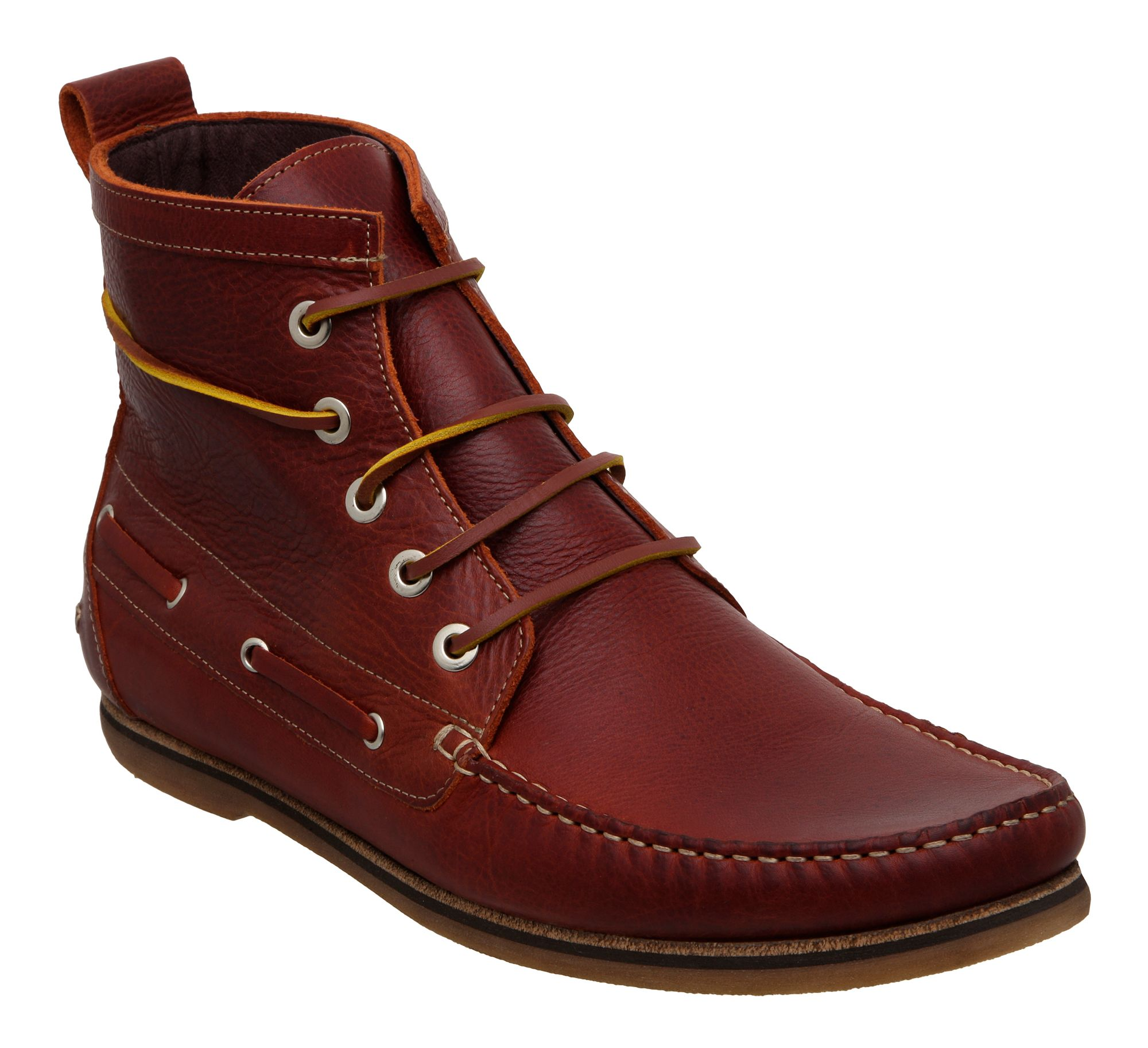 Hudson Mesquite Casual Boots In Brown For Men Burgundy