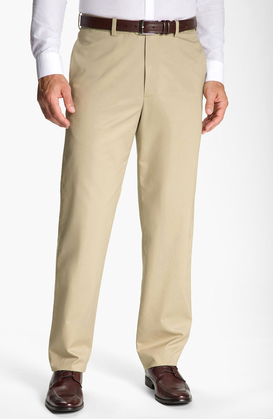 John W. Nordstrom® Smartcare Flat Front Supima Cotton ...
