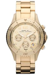 Marc By Marc Jacobs Rock Round Chronograph Bracelet Watch - Lyst