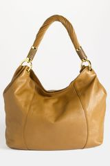 Michael Kors Tonne Leather Shoulder Bag in Brown (barley) - Lyst
