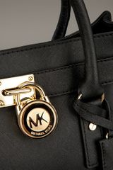 Michael Kors Hamilton Bag in Black - Lyst