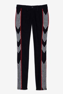 Rag & Bone Midrise Embroidered Skinny Jeans - Lyst