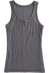 Rag & Bone Beater Tank in Gray (gunmetal) - Lyst