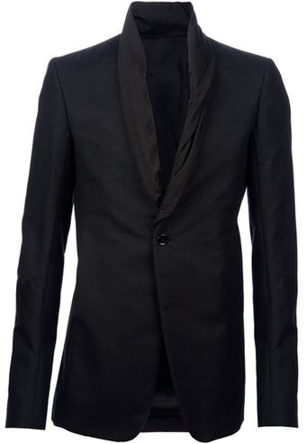 Rick Owens Rolled Lapel Jacket - Lyst