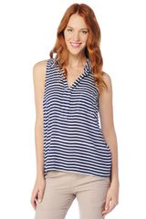 Splendid Striped Shirting Tank - Lyst