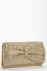 Tasha Crystal Bow Clutch - Lyst