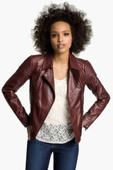 Trouvé Quilted Leather Biker Jacket - Lyst