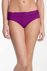 Natori Bliss Lace Trim Briefs - Lyst