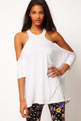 ASOS Collection Asos Top with Extreme Cut Out Shoulder - Lyst