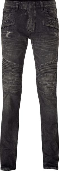 Balmain  Destroyed Denim Pants in Gray for Men (grey) - Lyst