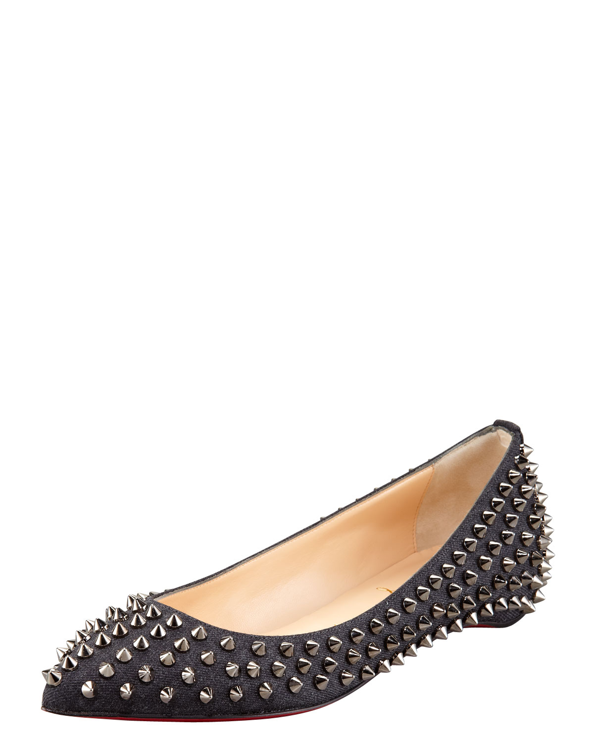 Flat Shoes With Spikes On Them