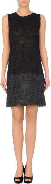 D&g Short Dress in Black - Lyst