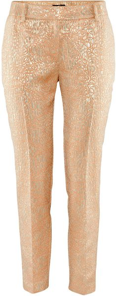 H&m Trousers in Beige (powder) - Lyst