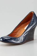 Lanvin Patent Leather Wedge - Lyst
