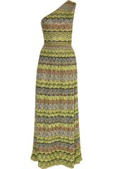 M Missoni One Shoulder Crochet Knit Gown - Lyst