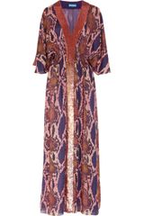 Matthew Williamson Pythonprint Silkchiffon Maxi Dress - Lyst