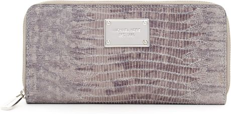 Michael By Michael Kors Jet Set Continental Wallet in Gray (slate) - Lyst