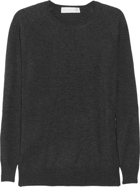 Stella Mccartney Wool and Cashmereblend Sweater in Gray (charcoal) - Lyst