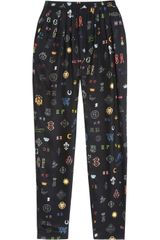 Stella McCartney Christine Tapered Printed Silk Pants - Lyst