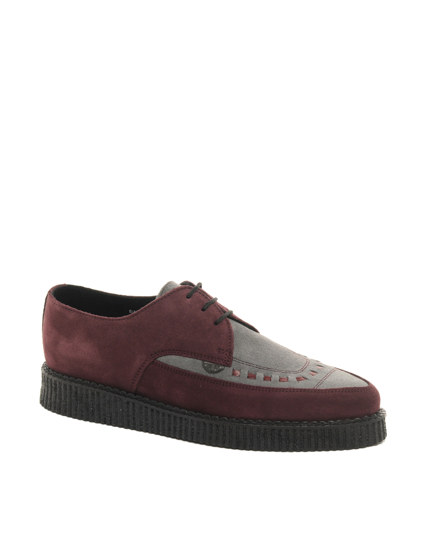 underground barfly suede creeper shoes in for lyst