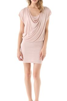Alice + Olivia Cowl Neck Drape Dress - Lyst