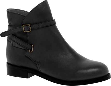 Asos Asos Altitude Leather Jodhpur Ankle Boots In Black Lyst