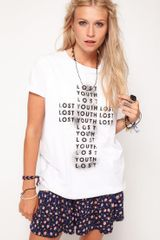 Asos Collection  T Shirt in Lost Youth Print in White - Lyst