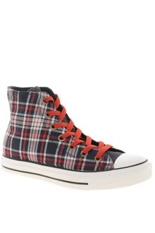 Converse All Star Plaid High Top Trainers - Lyst