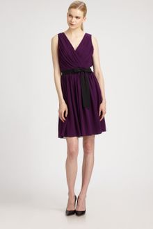 DKNY Sleeveless Vneck Dress - Lyst