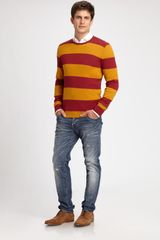 Dsquared2 Striped Wool Sweater in Multicolor for Men (bordeaux) - Lyst