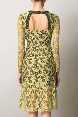 Erdem Drew Lace Dress in Yellow (chartreuse) - Lyst