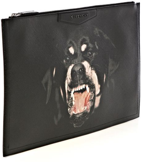 Givenchy Rottweiler Print Clutch Bag in Black - Lyst