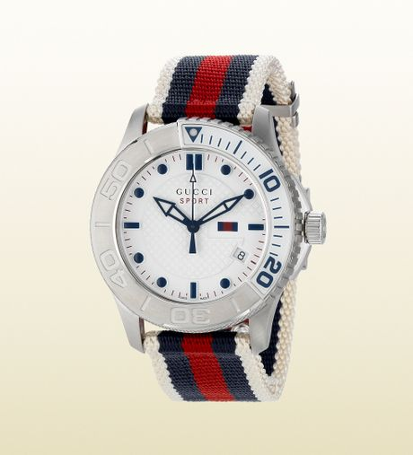 gucci g timeless sport stainless steel and web in