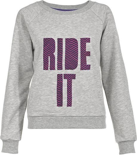 House Of Holland Ride It Jumper in Gray (grey)