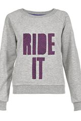 House Of Holland Ride It Jumper in Gray (grey) - Lyst